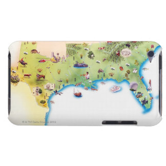 Map of Southern United States of America, with iPod Touch Case-Mate Case