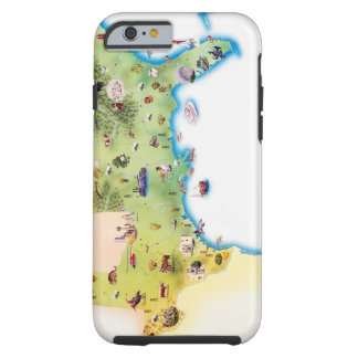 Map of Southern United States of America, with Tough iPhone 6 Case