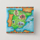 Map of Spain 15 Cm Square Badge