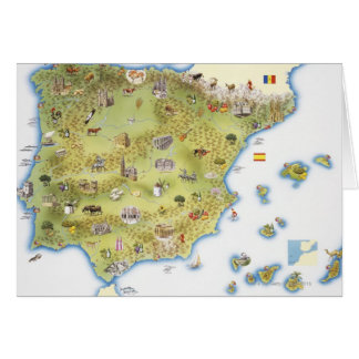 Map of Spain and Portugal Card