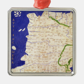Map of Spain and Portugal, from 'Geographia' Christmas Ornament
