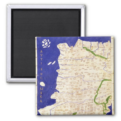 Map of Spain and Portugal, from 'Geographia' Fridge Magnet
