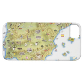 Map of Spain and Portugal iPhone 5 Case