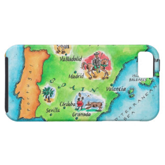Map of Spain iPhone 5 Cover