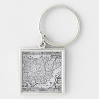 Map of Spain Key Ring