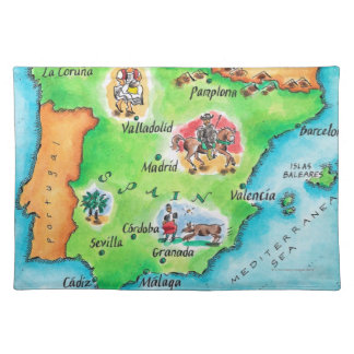 Map of Spain Placemats