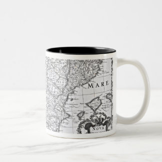 Map of Spain Two-Tone Coffee Mug