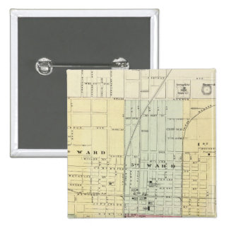 Map of Springfield City 15 Cm Square Badge