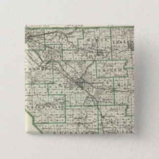 Map of St Clair County, Lebanon and Carlyle 15 Cm Square Badge