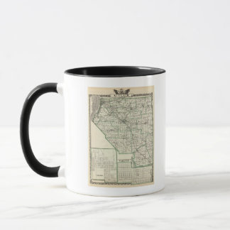 Map of St Clair County, Lebanon and Carlyle Mug