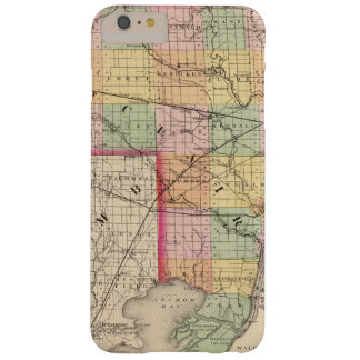 Map of St Clair County, Michigan Barely There iPhone 6 Plus Case