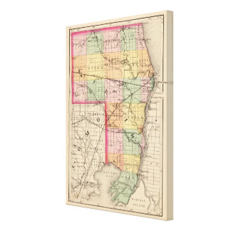 Map of St Clair County, Michigan Canvas Print