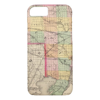 Map of St Clair County, Michigan iPhone 8/7 Case