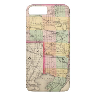 Map of St Clair County, Michigan iPhone 8 Plus/7 Plus Case