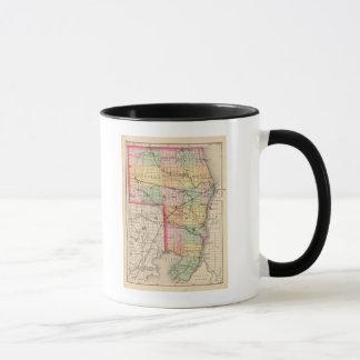 Map of St Clair County, Michigan Mug