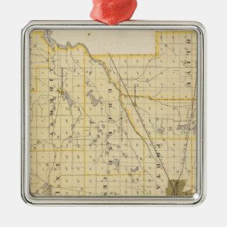 Map of St Joseph County Christmas Ornament