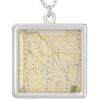 Map of St Joseph County Silver Plated Necklace