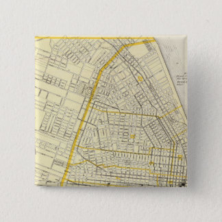 Map of St Louis City 15 Cm Square Badge
