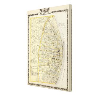 Map of St Louis City Canvas Print