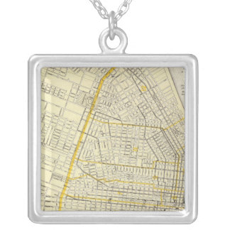 Map of St Louis City Silver Plated Necklace