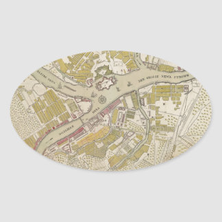 Map of St. Petersburg, Russia, created in 1737 Stickers