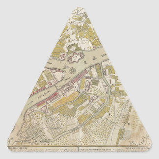 Map of St. Petersburg, Russia, created in 1737 Triangle Sticker