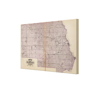 Map of Stearns County, Minnesota Canvas Print