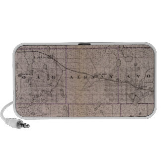 Map of Stearns County, Minnesota Laptop Speakers
