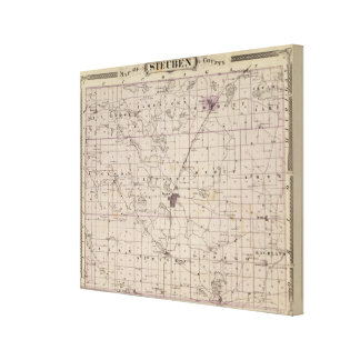 Map of Steuben County Indiana Canvas Print