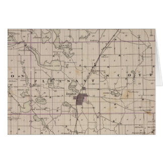 Map of Steuben County Indiana Card