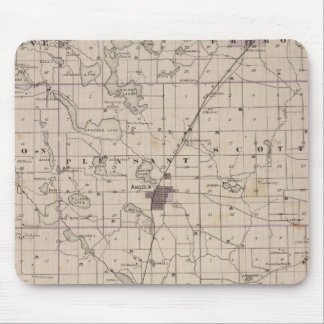 Map of Steuben County Indiana Mouse Mat