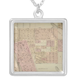 Map of Stillwater, Washington County, Minnesota Silver Plated Necklace
