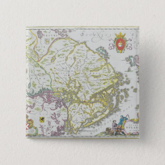 Map of Stockholm, Sweden 15 Cm Square Badge