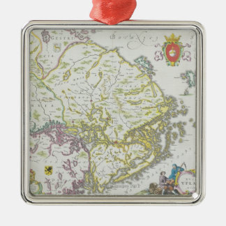 Map of Stockholm, Sweden Christmas Ornament
