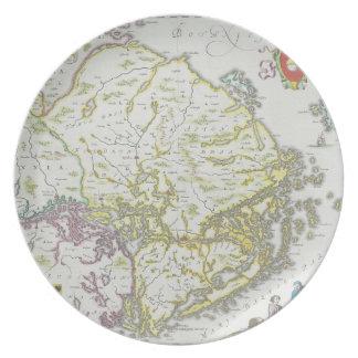 Map of Stockholm, Sweden Dinner Plate