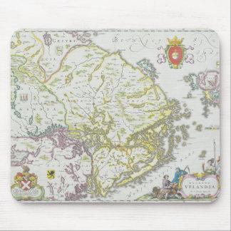 Map of Stockholm, Sweden Mouse Mat