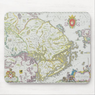 Map of Stockholm, Sweden Mouse Pad