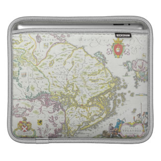 Map of Stockholm, Sweden Sleeves For iPads