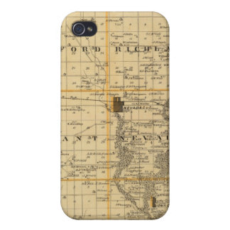 Map of Story County, State of Iowa iPhone 4 Cases