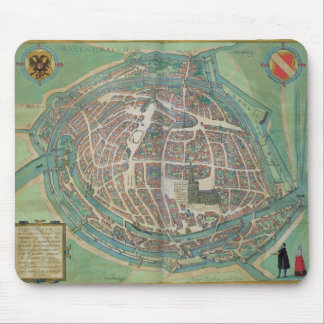 Map of Strasbourg, from 'Civitates Orbis Terrarum' Mouse Mat