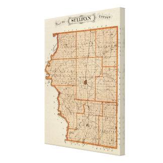 Map of Sullivan County Canvas Print