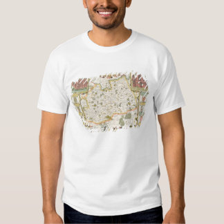 Map of Surrey, engraved by Jodocus Hondius Shirts