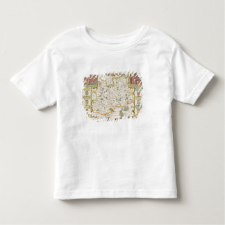 Map of Surrey, engraved by Jodocus Hondius T-shirt
