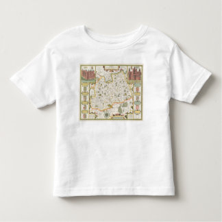 Map of Surrey, engraved by Jodocus Hondius T-shirts