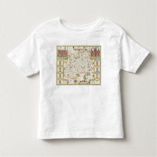 Map of Surrey, engraved by Jodocus Hondius Toddler T-Shirt