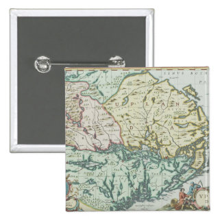 Map of Sweden 15 Cm Square Badge
