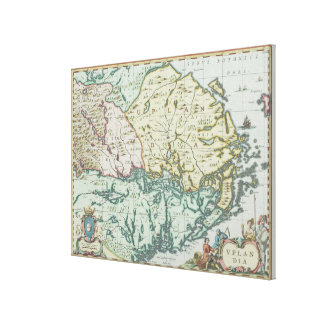 Map of Sweden Canvas Print