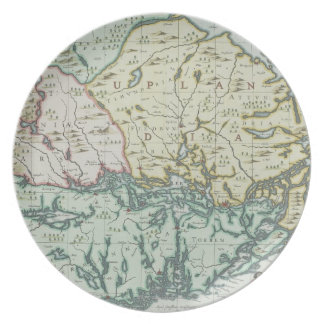 Map of Sweden Plate