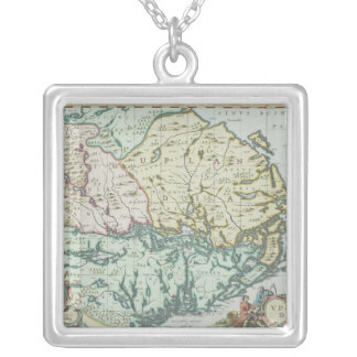 Map of Sweden Silver Plated Necklace