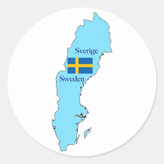 Map of Sweden Sticker